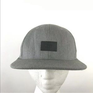 Vans Off the Wall Snapback Hat Rip Gray Wool Logo